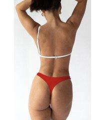 miami dół bikini czerwony
