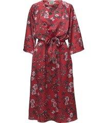 maxine dress knälång klänning röd twist & tango