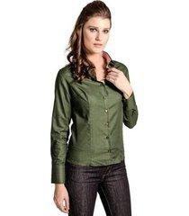 camisa slim textura carlos brusman feminina