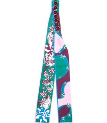 emilio pucci bead embroidery scarf - green