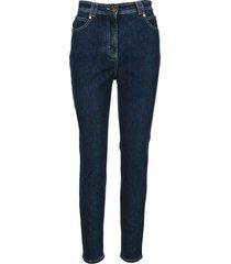 balmain skinny cut high-waisted jeans