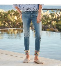 driftwood jeans colette flower cuff jeans