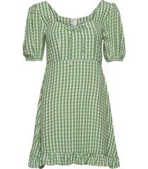 agathe mini dress jurk knielengte groen faithfull the brand