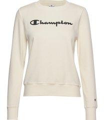 crewneck sweatshirt sweat-shirt tröja creme champion