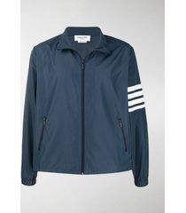 thom browne 4-bar funnel neck zip-up jacket