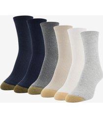 gold toe women's 6-pk. lola nep rib short crew socks