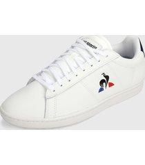 tenis lifestyle blanco-negro-azul-rojo le coq sportif