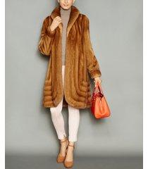 the fur vault shawl-collar mink fur coat