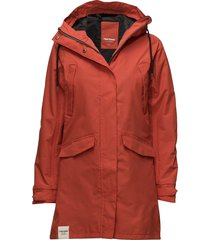 womens rain jacket from the se parka rock jacka röd tretorn