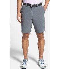 men's big & tall cutter & buck 'bainbridge' drytec shorts, size 60r - grey