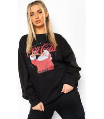 coca cola kerst sweater, black