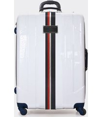 """tommy hilfiger women's 28"""" spinner suitcase white -"""