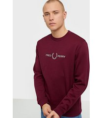 fred perry graphic sweatshirt tröjor tawny port