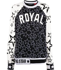 dolce & gabbana royal star pattern sweatshirt - black