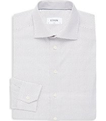 slim-fit dotted cotton button-down shirt