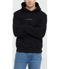 the classy issue logo hoodie tröjor black