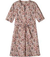 bedrukte jurk in vrouwelijke a-lijn met bloemenprint, kastanje-motief 38