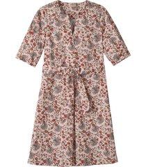 bedrukte jurk in vrouwelijke a-lijn met bloemenprint, kastanje-motief 42