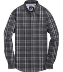 joe joseph abboud black and gray plaid repreve® sport shirt