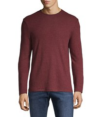 long-sleeve cotton-blend tee