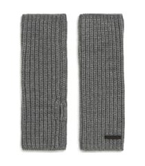 women's allsaints half-cardigan stitch arm warmers, size one size - grey