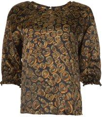 blouse met print charlize  groen
