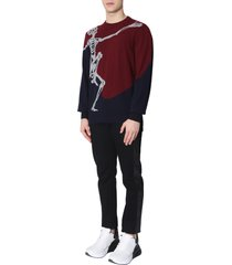 alexander mcqueen sweater with dancing skeleton print