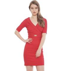 vestido bunnys dash cadena rojo - calce ajustado