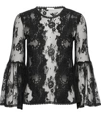 millie top blouse lange mouwen zwart ida sjöstedt