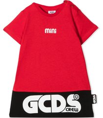 gcds red, black and white cotton dress