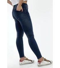 jean para mujer topmark, silueta poppy, tiro alto y cintura con pretina