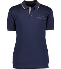 state of art poloshirt marineblauw effen