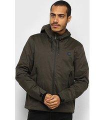 jaqueta acostamento básica com capuz masculina