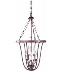 volume lighting minster 6-light candle-style hanging pendant