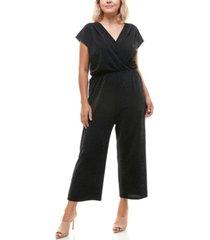 monteau trendy plus size shine wide-leg jumpsuit