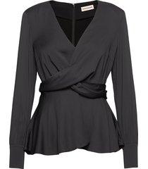 day blouse lange mouwen zwart custommade