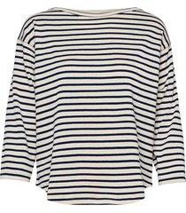 bretagne organic thilke t-shirts & tops long-sleeved blauw mads nørgaard