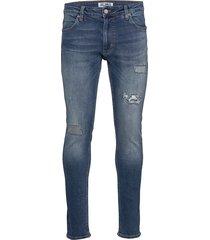 sicko deep blue slimmade jeans blå just junkies