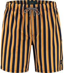 shiwi heren zwembroek midi stripe spritz yellow