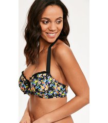 sunkissed floral padded halter underwire bikini top