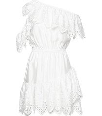 asymmetric broderie anglaise dress kort klänning vit designers, remix