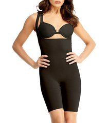 braless bodysuit with thigh shaper