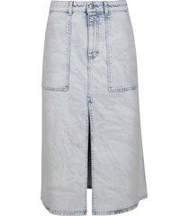 stella mccartney blue cotton denim skirt