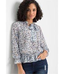 gedessineerde blouse met strik