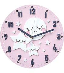 zegar dla dziecka księżyc i gwiazdy