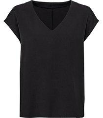 blouseshirt van tencel™ vezels met v-hals, zwart 42