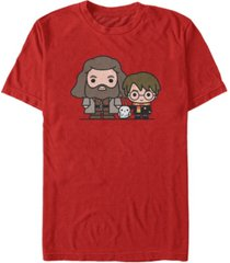 fifth sun harry potter men's hagrid hedwig and harry chibi short sleeve t-shirt