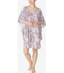ellen tracy flutter sleeve caftan nightgown