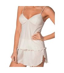 pijama feminino curto demillus 20160 branco