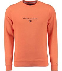 sweater tommy hilfiger big  & tall oranje